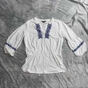 Lauren Ralph Lauren embroidered design women's XL